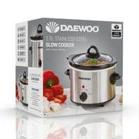 Daewoo Stainless Steel Slow Cooker - 1.5L